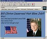 blow job Bill Clinton