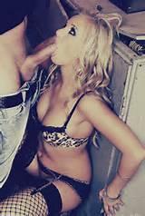 Blonde Blowjob Lingerie